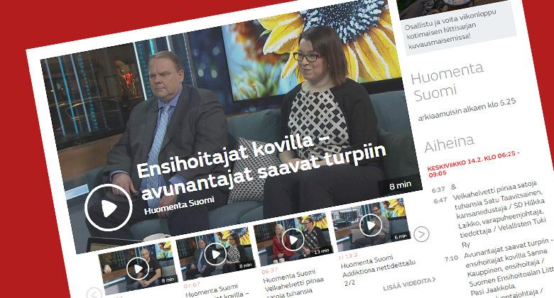 Miksi auttajiin kohdistuu väkivaltaa, kysyttiin Huomenta Suomessa