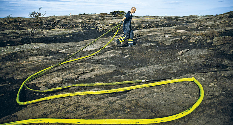 Metsäpalot: Ruotsi taipui tulen edessä