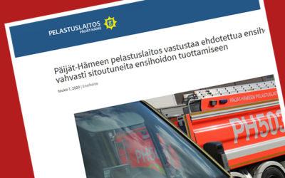 Pelastuslaitos haluaa tehdä ensihoitoa Päijät-Hämeessä